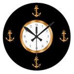 Relojes de pared náuticos del ancla del barco