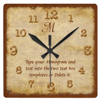 Relojes de pared personalizados SU MONOGRAMA y
