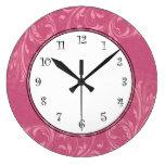 Relojes de pared rosados de los chicas