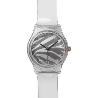Relojes de plata de la cebra