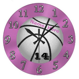 Relojes del baloncesto con NOMBRE y NÚMERO del
