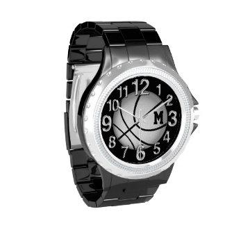 Relojes del baloncesto con SU MONOGRAMA o NÚMERO