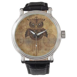 Relojes del estilo del vintage del búho de