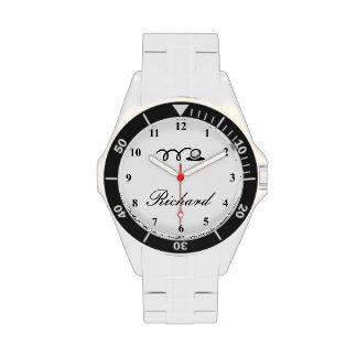 Relojes del golf para los hombres con la impresión