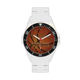 Relojes del personalizable del RELOJ del BALONCEST