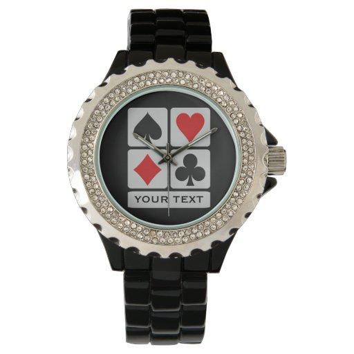Relojes del personalizado del jugador de tarjeta