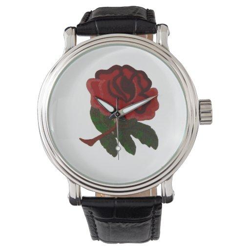 Relojes del rosa rojo
