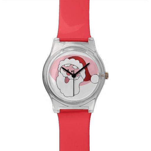 Relojes divertidos del personalizado de Santa