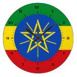 Relojes etíopes de la bandera