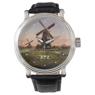 Relojes holandeses del personalizado de los