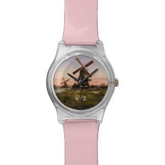 Relojes holandeses del personalizado de los molino