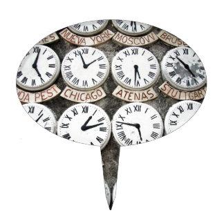 Relojes internacionales figura de tarta
