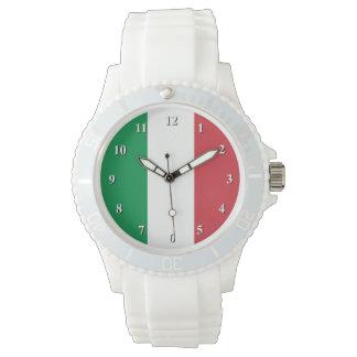 Relojes italianos de la bandera para los hombres y