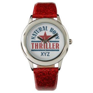 Relojes llevados naturales del personalizado de la