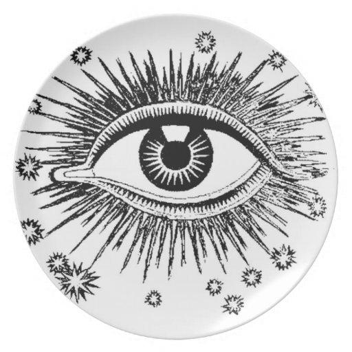 Relojes místicos del ojo que usted come platos