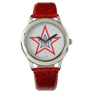 ¡Relojes patrióticos del premio de la estrella! Reloj De Mano