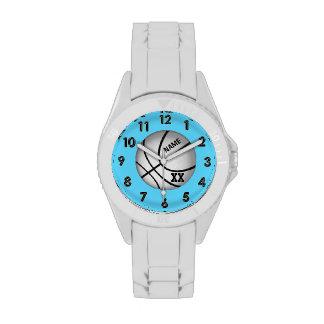 Relojes personalizados del baloncesto, coche,