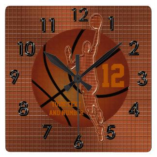 Relojes personalizados del baloncesto con NOMBRE y