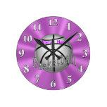 Relojes personalizados del baloncesto para el siti