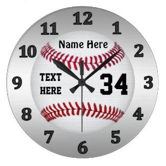 Relojes personalizados del béisbol con NOMBRE y
