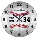 Relojes personalizados del béisbol con NOMBRE y NÚ