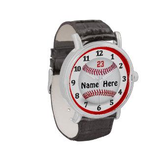 Relojes personalizados del béisbol para los hombre
