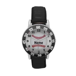 Relojes PERSONALIZADOS del béisbol para los muchac