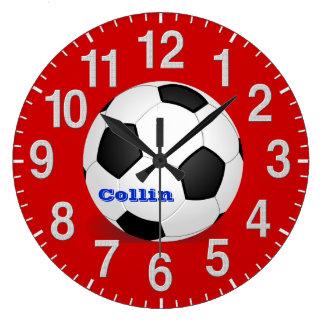 Relojes personalizados del fútbol con instruccione
