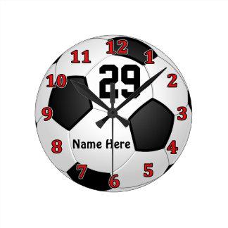 Relojes personalizados del fútbol con NOMBRE y NÚM