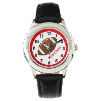 Relojes personalizados del fútbol para los