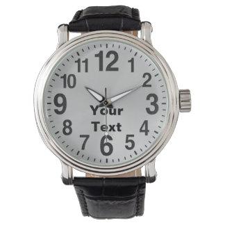 Relojes personalizados del gran número para los