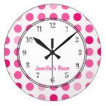 Relojes personalizados femeninos rosados