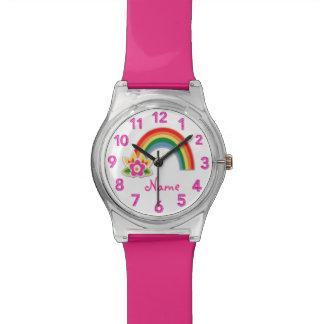 Relojes personalizados reloj del arco iris para