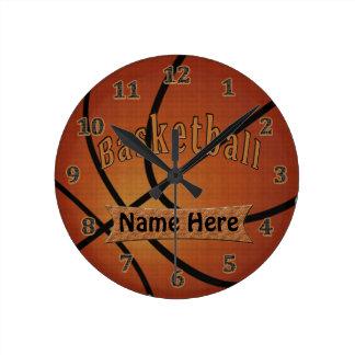 Relojes personalizados vintage del baloncesto