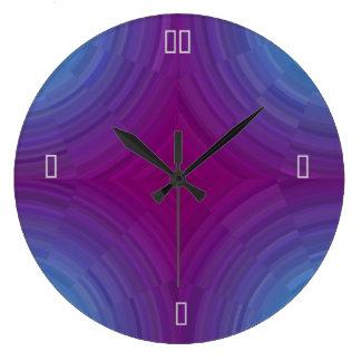 Relojes púrpuras azules atmosféricos bonitos del