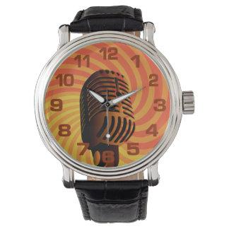 Relojes retros del micrófono