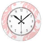 Relojes rosados del damasco