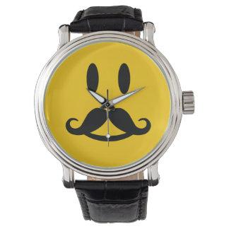 Relojes sonrientes del personalizado del bigote