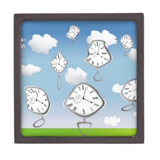 relojes surrealistas caja de recuerdo de calidad