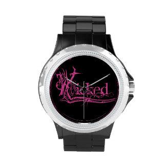 Relojes traviesos del rosa