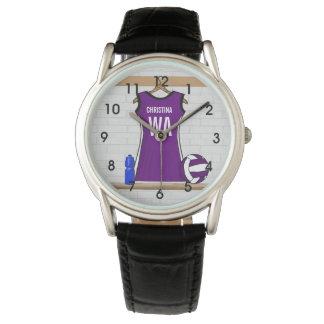 Relojes únicos personalizados del jugador del