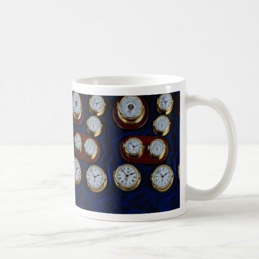 Relojes y barómetros marítimos valiosos taza clásica