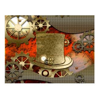 Relojes y engranajes del gorra de la bruja de postales