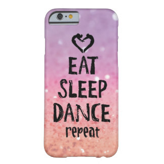 Reluciente coma, duerma, baile el caso funda barely there iPhone 6