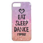 Reluciente coma, duerma, baile el caso funda iPhone 7