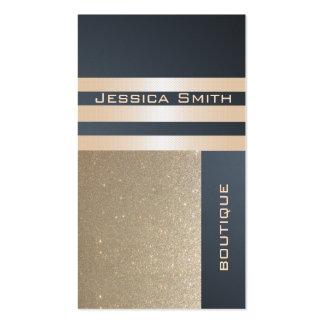 Reluciente de oro contemporáneo de lujo elegante e tarjetas de visita