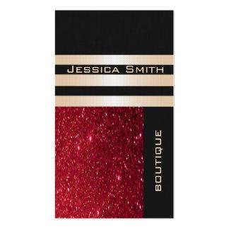 Reluciente rojo contemporáneo de lujo elegante tarjetas de visita