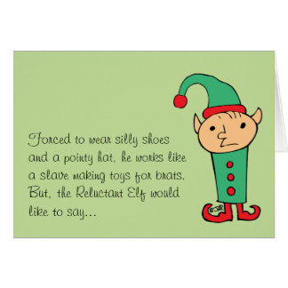 Reluctant Elf Card