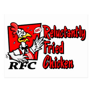 Reluctantly Fried Chicken Postcards