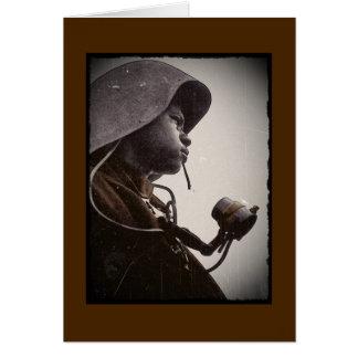 Remachador de Rosie del afroamericano Tarjeta De Felicitación
